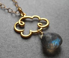 Cloud Necklace Gold Cloud necklace Cloud Charm by SueanneShirzay