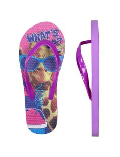 Photoreal Giraffe Flip Flops | Girls Flip Flops Shoes | Shop Justice