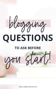 Blogging questions to ask before you start! Have you been thinking about starting a blog? Well, you must check out these questions first! You know it is beneficial to have a blog for your business, but what kind of work is it going to take to run one? We give you the questions you need to ask yourself before you start running one. We teach you what goes into a blog and how to run one! Become a blogging boss! It's time to get going! #BloggingForBusiness #OnlineBusiness #QuestionsToAsk Business Tips, Online Business, Business Quotes, Questions To Ask, This Or That Questions, Make Money Online, How To Make Money, Pinterest For Business, Start Running