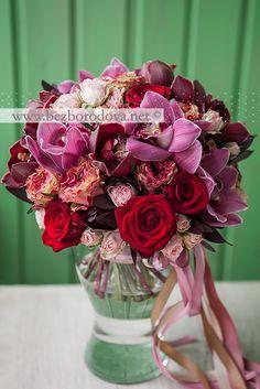 Лучшие свадебные букеты из орхидей и роз — 13