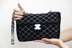 Bolso crochet de Silayaya. Chanel 2.55 versionado