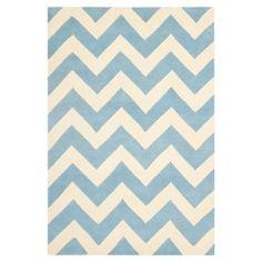 Blue chevron rug