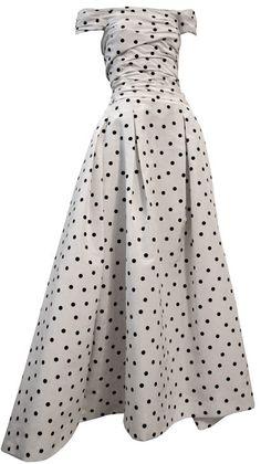 1950's polka dot gown
