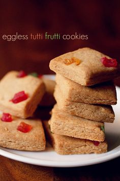 anyone for eggless tutti frutti biscuits ? crisp tutti frutti cookies made with whole wheat flour #eggless #christmas2015