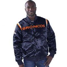 Denver Broncos Starter The Captain Varsity Satin Full-Snap Jacket - Navy (Blue), Men's, Size: XL - Brought to you by Avarsha.com