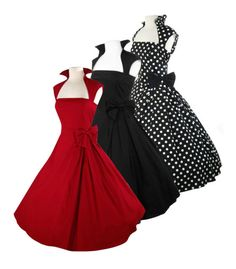Retro 50 s Rockabilly Swing Pinup Vintage Cocktail Prom Evening Dress 8 28   70ae4c9a545