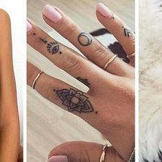 If you've been thinking about getting a tattoo, but are keen to opt for something subtle, small or tiny, then a delicate finger tattoo could be just for you. Finger tattoos are super adorable and beautiful on its own. Finger tattoos are fun to conc Tattoo Am Finger, Finger Tattoo For Women, Finger Tattoo Designs, Girl Finger Tattoos, Small Finger Tattoos, Hand Tattoos For Women, Tattoo Women, Womens Finger Tattoos, Small Tattoos On Finger