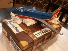 Southwest Airlines airplane cake