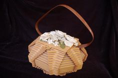Amazing  vintage 1960s Popsicle stick crafts purse. $25.00, via Etsy.