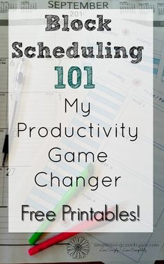 Free Printables! Pin for later! Learn how to time block your schedule and…