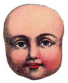 Vintage Image - Antique Doll Head    From The Graphics Fairy