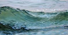 I love painting water. I painted this wave a few years ago in pastel on panel. I wanted to give the feel of being in the water and tranquility instead of the usual crashing waves . Africa Painting, Love Painting, Hyperrealism, Photorealism, Original Paintings, Original Art, South African Artists, Beach Art, Ocean Waves