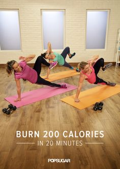 Just Press Play Day 24: If your schedule is feeling tight, don't skip your workout. In only 20 minutes, you can burn up to 200 calories.