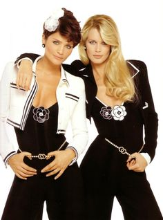 Chanel ad. Models: Helena Christensen and Claudia Schiffer