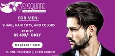 For Men: Shave, Hair Cuts and Color @ Just Rs. 499
