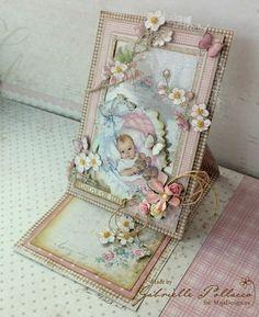 Window Easel Framed Card {Maja Design - Vintage Baby}