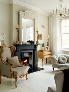 """""""french-english-victorian-style""""-maisonette-london-home-interior-decorating"""
