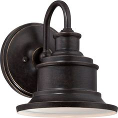 "Quoizel SFD8407IB Imperial Bronze Seaford 1 Light 8"" Tall Industrial Outdoor Wall Sconce - LightingDirect.com"
