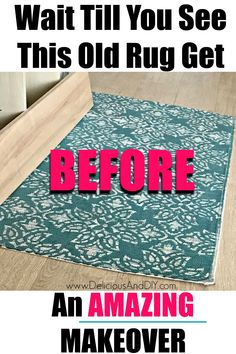 Repurpose an old rug into a beautiful, colorful Rainbow Inspired Rug which will surely brighten your Home Decor be it indoors or Outdoors| Upcycle an Old Thrifted Rug into a stunning Rainbow Inspired Mat with this stunning, easy to follow tutorial. #colorful #rainbow #homedecor #outdoormat #paintedrug #rainbowinspiration #diycrafts #diy Rental Home Decor, Rental Decorating, Hand Painted Mugs, Painted Rug, Upcycled Crafts, Repurposed, Diy Crafts, Cute Diy Projects, Diy Furniture Projects