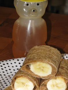 Nutty Banana Roll Ups- 88 calories