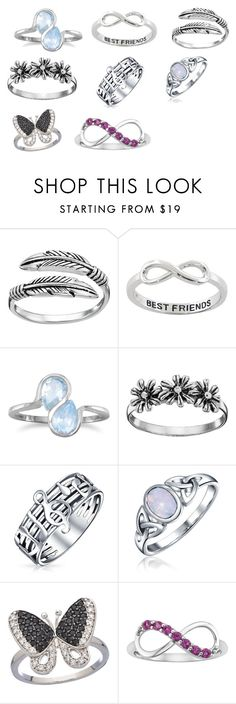 Rings Only by zahra00762 on Polyvore featuring Primrose, BillyTheTree, Bling Jewelry and Eternally Haute