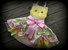 Toddler-Girls Cats and Kittens Party-Pageant Costume Dress 2 piece Set -Crazy Over the Top,  Available in sizes 12 month through 8 on Etsy, $149.00