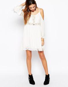 tassel trim dress