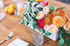 Table centre planters | wedding style