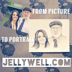 Have an awesome picture you'd like painted into an even awesome-r portrait? Look no further than Jellywell Art!!   #watercolor #illustration #art #painting #jellywell #jellywellart #photography #portrait #portraiture #love #family #memories