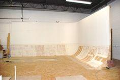 Ciclorama de obra para estudio fotográfico en terrassa. 6 metros x 5 metros aproximadamente.