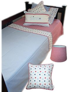 Star Linen set for Boys - Classic Red & Blue. Made by Tula-tu Baby Linen