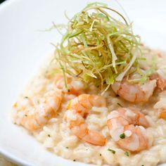 Risoto de camarão e mascarpone com alho-poró crocante - Receitas - Receitas GNT
