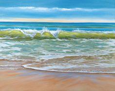Beach Painting by Robyn Joy Art  24x 30 Coastal Art by robynjoyart