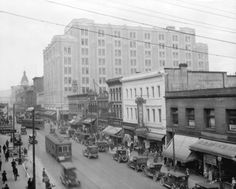 View of Hastings Street looking west from Homer Street,1927