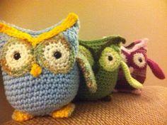 Hoot hoot - crochet owls.