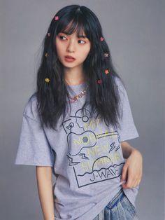 Saito Asuka, Asian Girl, Outfit Of The Day, Beachwear, Swimwear, Street Style, T Shirts For Women, Cute, Model