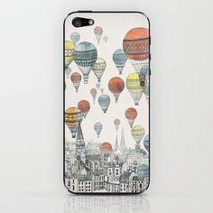 Voyages over Edinburgh iPhone & iPod Skin by David Fleck - $15.00