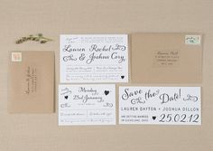 Whimsical Rustic Wedding Invitations by AmeliaLanePaper on Etsy, £3.00