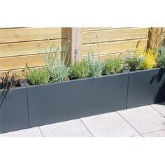 New Rectangle Patio Design Planters Ideas Plastic Planters, Metal Planters, Large Planters, Outdoor Planters, Outdoor Decor, Balcony Planters, Balcony Gardening, Diy Pergola, Pergola Plans