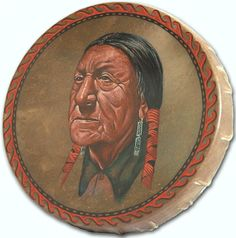Just finished this painted drum. I've not been able to identify the American Indian. Anybody know?