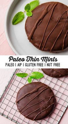 These paleo thin mint cookies are the real deal! They're the perfect treat t… These paleo thin mint cookies are the real deal! They're the perfect treat to take you on a walk down memory lane while still being gluten free, grain free, and AIP. Paleo Sweets, Paleo Dessert, Healthy Desserts, Dessert Recipes, Paleo Food, Paleo Diet, Eating Paleo, Dukan Diet, Diabetic Snacks