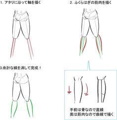 簡略化して立体を捉えよう! 脚の描き方講座 イラストの描き方 ふくらはぎの描き方 How to Draw Legs by Simplifying and Thinking About Volume   Illustration Tutorial Drawing calfs in 3 steps