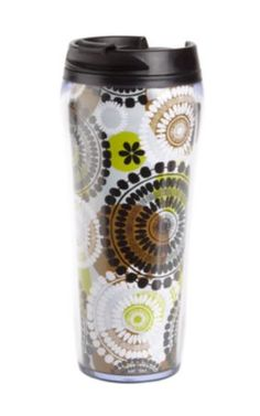 Travel Mug in Cocoa Moss, $19.00 | Vera Bradley
