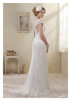 Alfred Angelo Modern Vintage Style 8501 Love the back would like a longer train but very me!