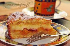 Ciasto z brzoskwiniami i budyniem. Palce lizać!