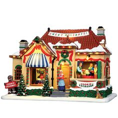 Lemax Village Collection Christmas Village Building, Cookie Exchange Party, With 4.5V Adaptor