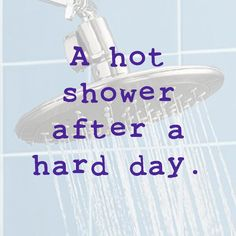 Showers. Hot water.