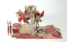East of India Christmas craft kits. Make your own Elf peg people, Christmas bunting, flags and Jam jar covers.