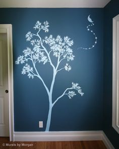 Sophie's Room Ideas - Love this - pretty blue tree - girls room.. I want to paint this in my girls room..