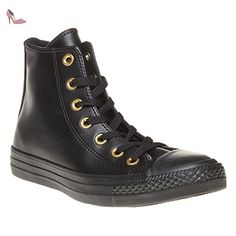 Converse All Star Hi W chaussures 8,0 black/gold - Chaussures converse (*Partner-Link)